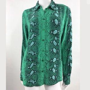 Equipment femme Woman Blouse Button Down Silk
